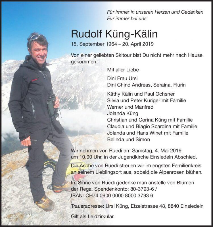 Rudolf Küng-Kälin, April 2019 / TA