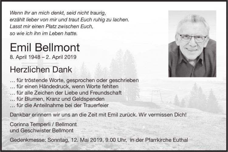 Bellmont Emil, im Mai 2019 / DS