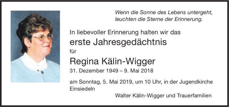Regina Kälin-Wigger, im Mai 2018 / JG