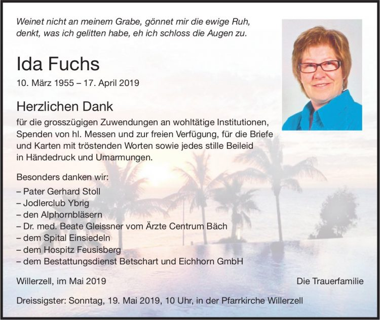 Fuchs Ida, im Mai 2019 / DS