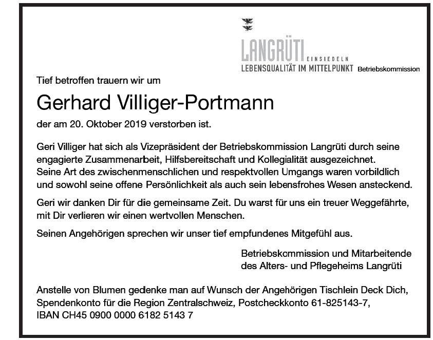 Gerhard Villiger-Portmann