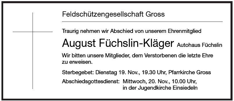 August Füchslin-Kläger