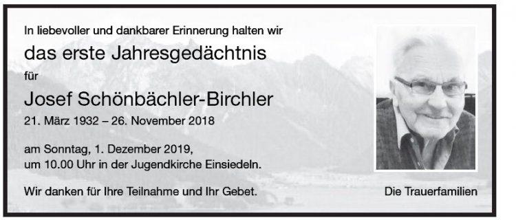 Josef Schönbächler-Birchler 1.JG