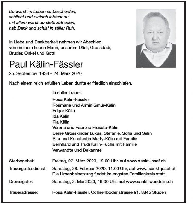 Paul Kälin-Fässler
