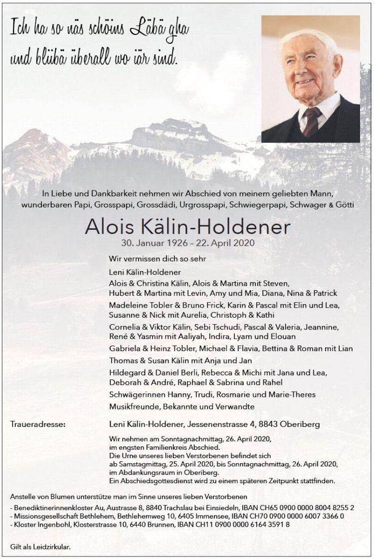 Alois Kälin-Holdener