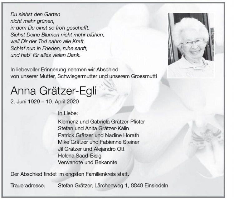 Anna Grätzer-Egli