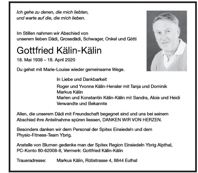 Gottfried Kälin-Kälin