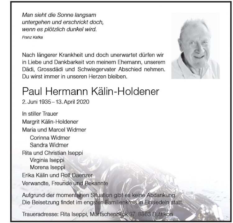 Paul Hermann Kälin-Holdener