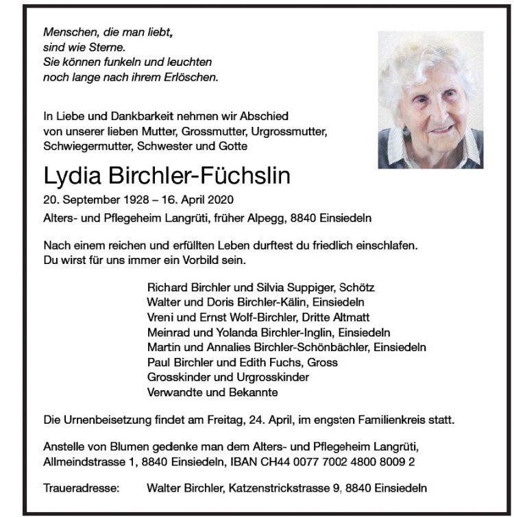Lydia Birchler-Füchslin