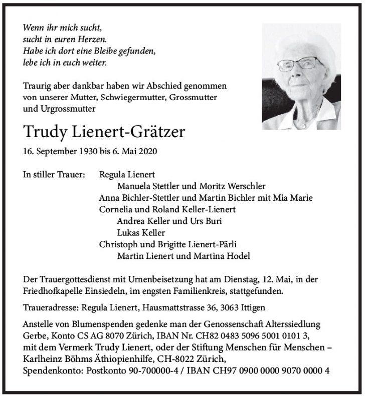 Trudy Lienert-Grätzer