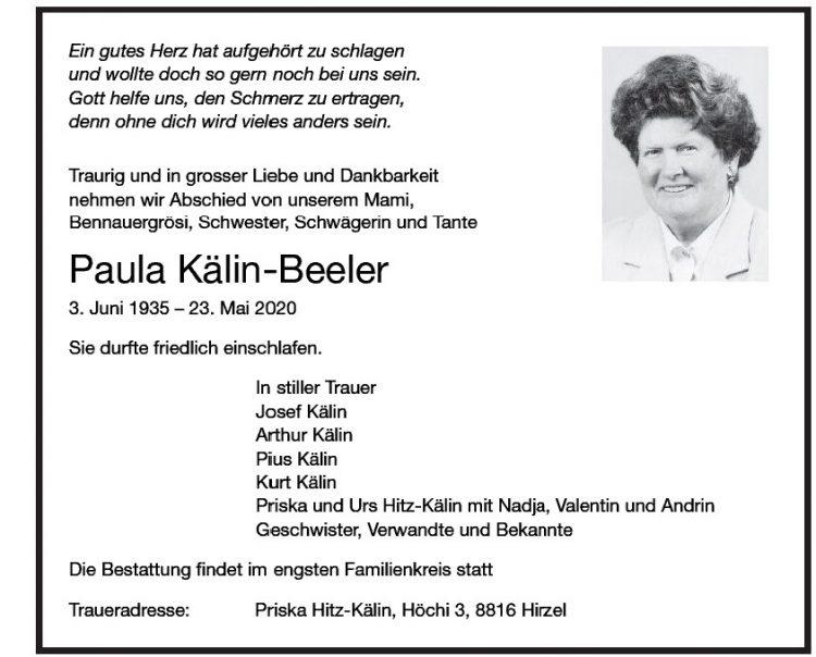 Paula Kälin-Beeler