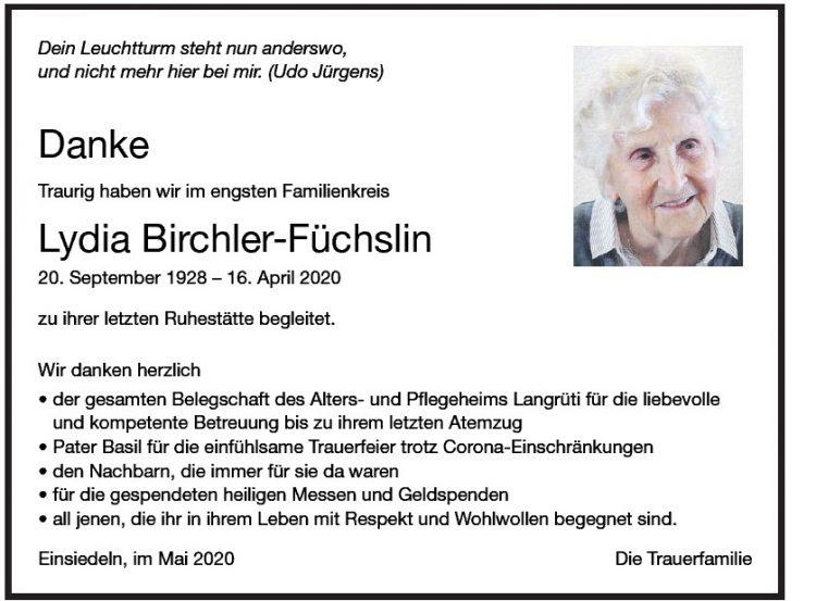 Lydia Birchler-Füchslin DK