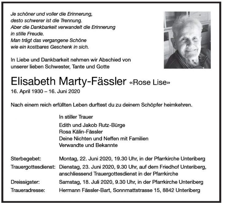 Elisabeth Marty-Fässler «Rose Lise»
