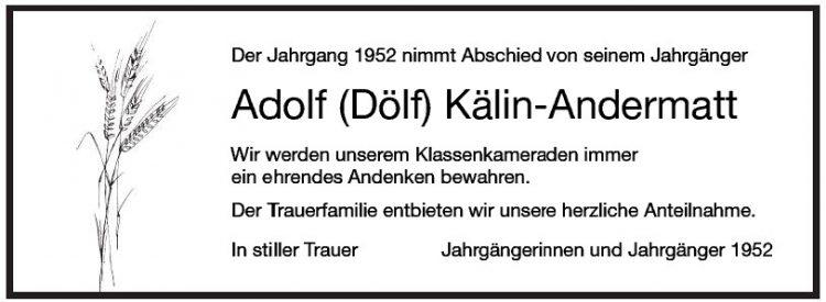 Adolf (Dölf) Kälin-Andermatt
