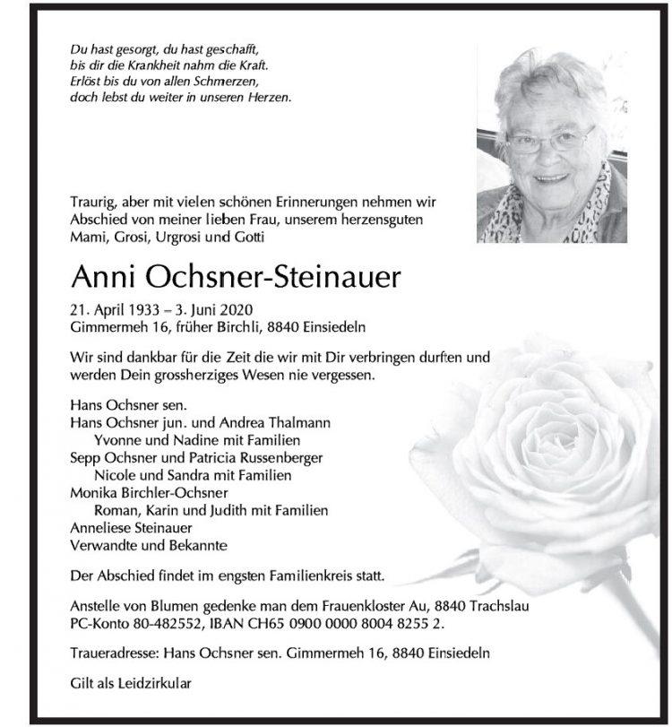 Anni Ochsner-Steinauer