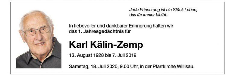 Karl Kälin-Zemp