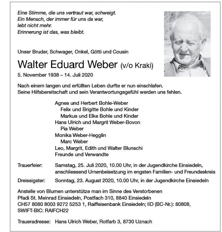 Eduard Weber Walter (v/o Kraki)