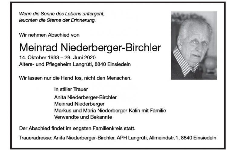 Meinrad Niederberger-Birchler