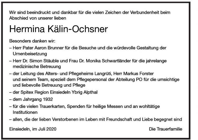 Hermina Kälin-Ochsner