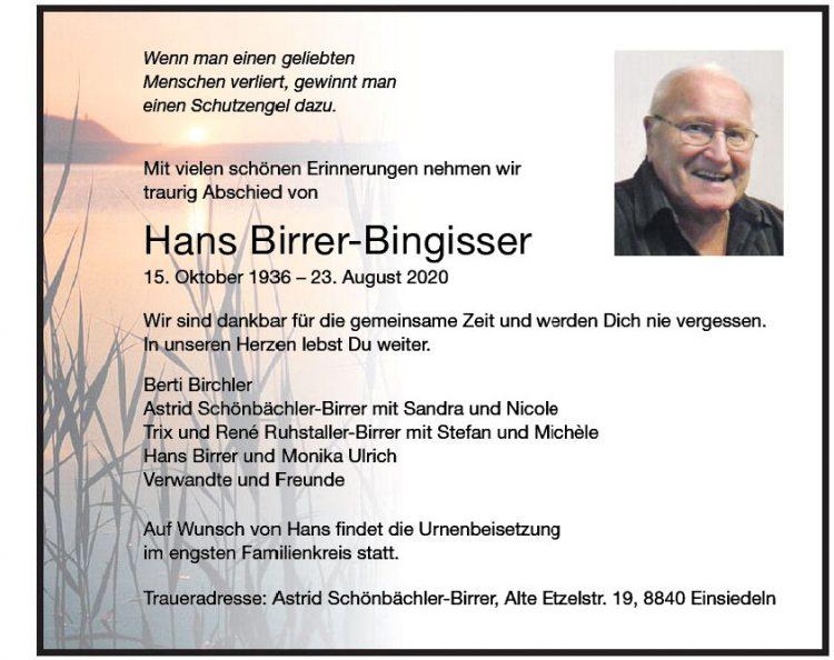 Hans Birrer-Bingisser
