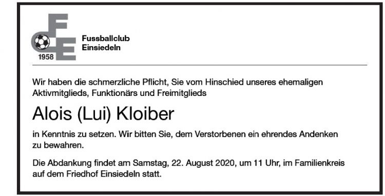 Alois (Lui) Kloiber