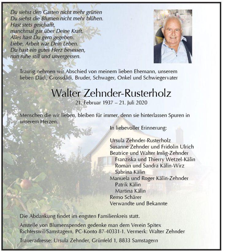 Walter Zehnder-Rusterholz