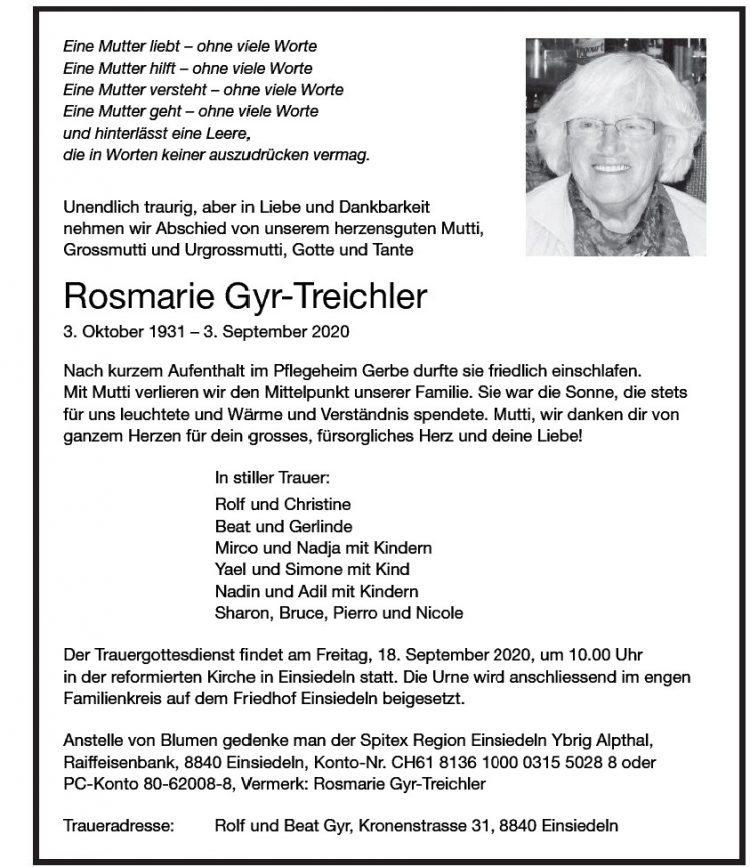 Rosmarie Gyr-Treichler