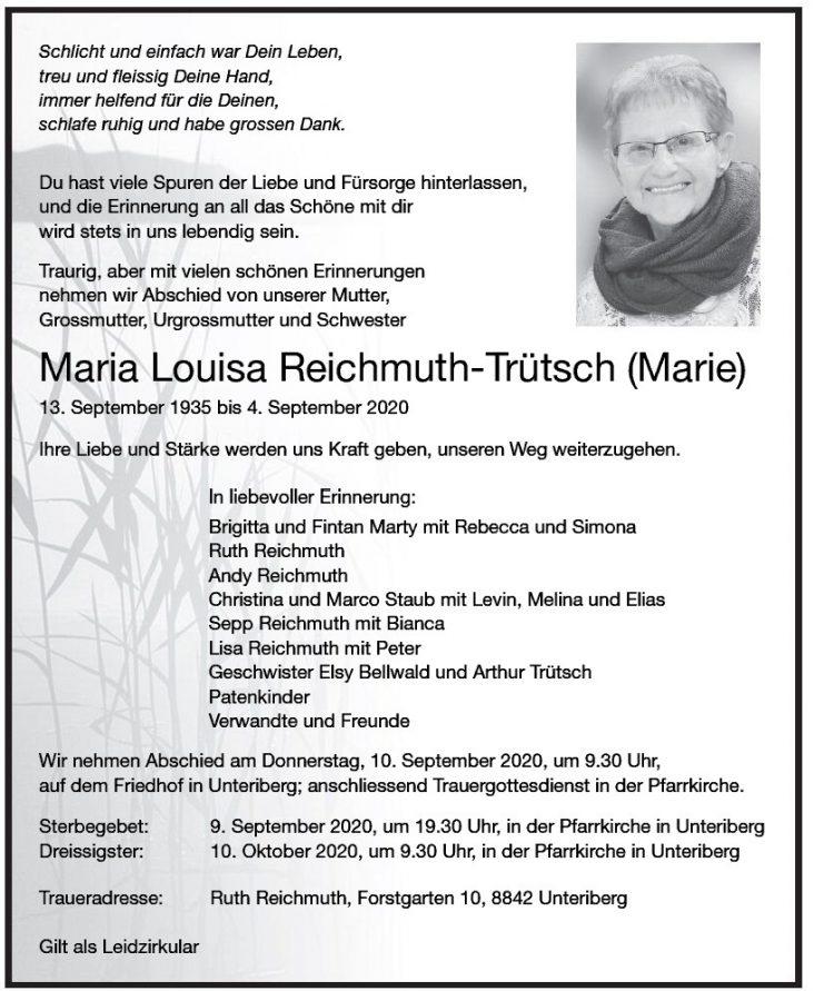 Maria Louisa Reichmuth-Trütsch (Marie)