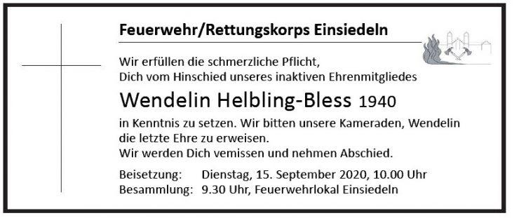 Wendelin Helbling-Bless 1940