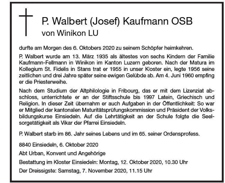 P. Walbert (Josef) Kaufmann OSB