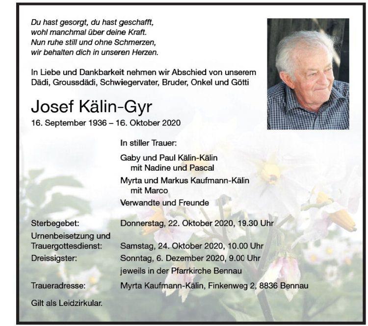 Josef Kälin-Gyr
