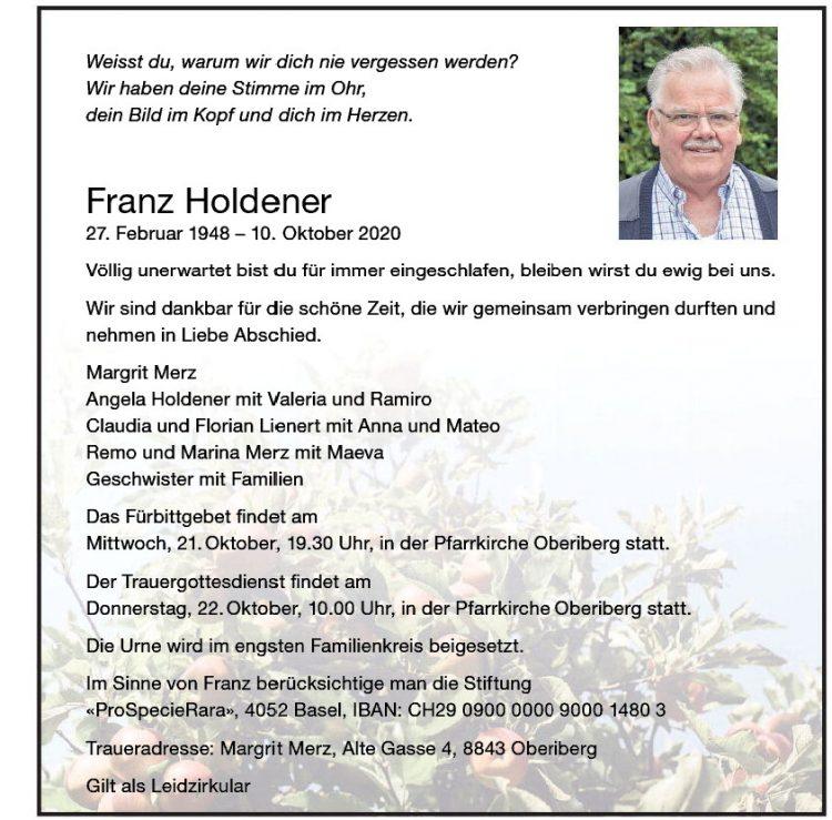 Franz Holdener