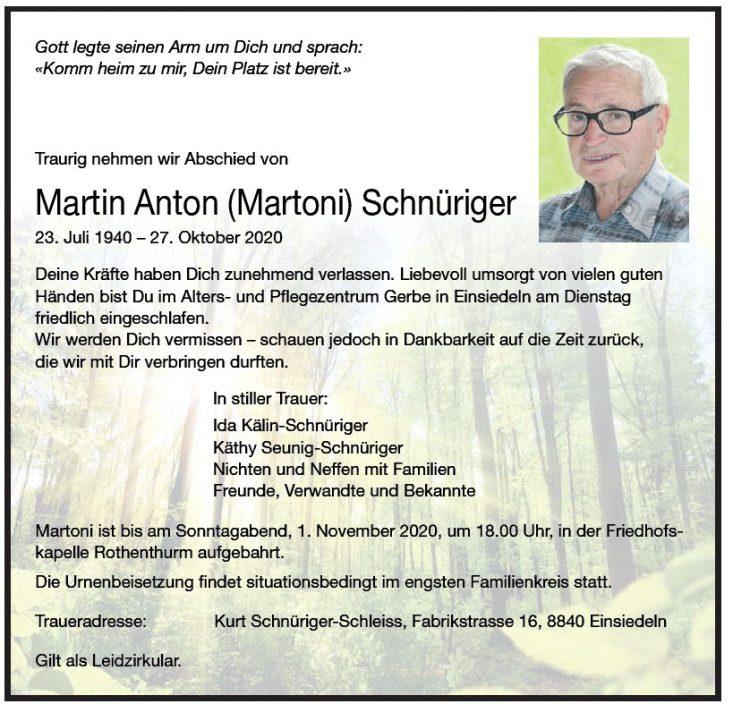 Martin Anton (Martoni) Schnüriger
