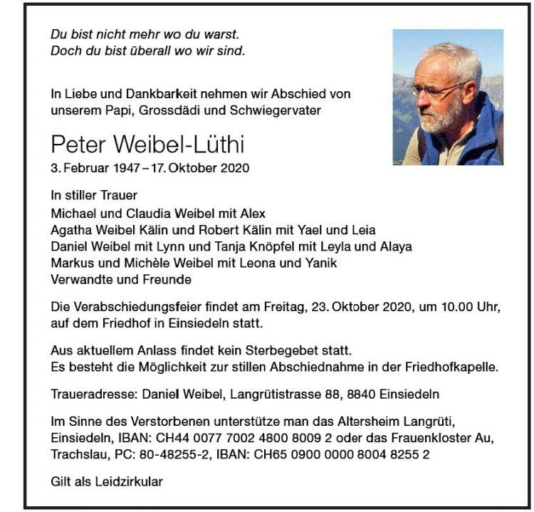 Peter Weibel-Lüthi