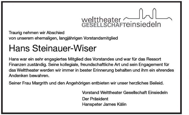 Hans Steinauer-Wiser