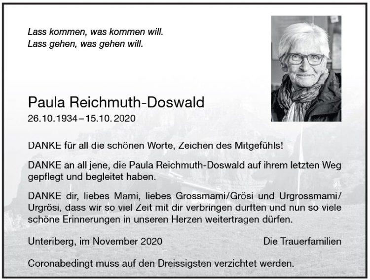 Paula Reichmuth-Doswald