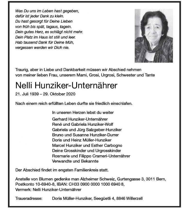 Nelli Hunziker-Unternährer